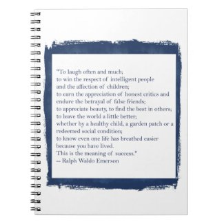 Ralph Waldo Emerson Quote Notebook