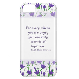 Ralph Waldo Emerson Quote- Spring Crocus Flowers Case For iPhone 5C