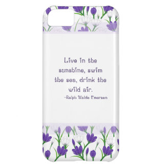 Ralph Waldo Emerson Quote- Spring Crocus Flowers iPhone 5C Cases