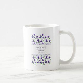 Ralph Waldo Emerson Quote- Spring Crocus Flowers Coffee Mug