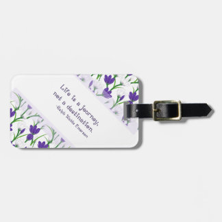 Ralph Waldo Emerson Quote- Spring Crocus Flowers Bag Tags
