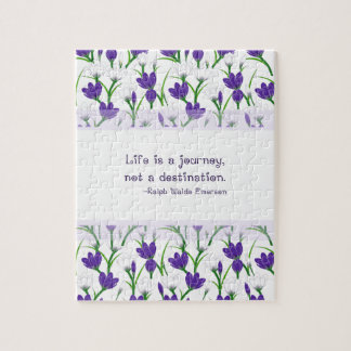 Ralph Waldo Emerson Quote- Spring Crocus Flowers Puzzle