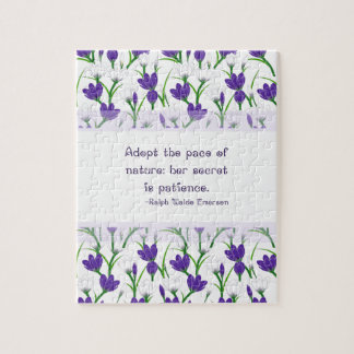Ralph Waldo Emerson Quote- Spring Crocus Flowers Puzzle