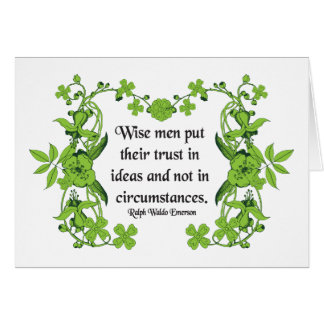 Ralph Waldo Emerson Quote - Wise Men Card