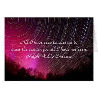 Ralph Waldo Emerson Quotes, Greeting Card