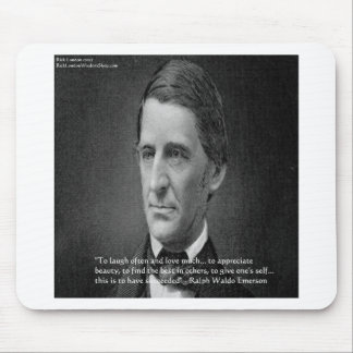 Ralph Waldo Emerson Success Wisdom Quote Gifts Mouse Pad