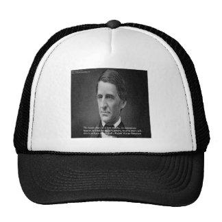 Ralph Waldo Emerson Success Wisdom Quote Gifts Trucker Hat