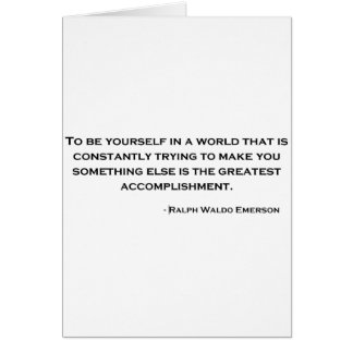 Ralph Waldo Emerson Wise Quote Card