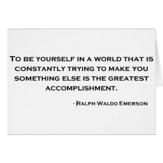 Ralph Waldo Emerson Wise Quote Card