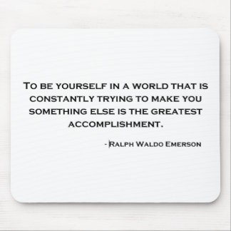 Ralph Waldo Emerson Wise Quote Mouse Pad