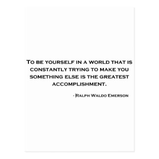 Ralph Waldo Emerson Wise Quote Postcard