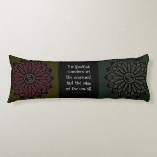 Ralph Waldo Emerson Yin Yang Quote Body Pillow