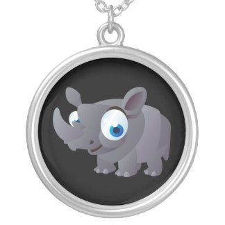Ralphie The Rhinoceros Silver Plated Necklace