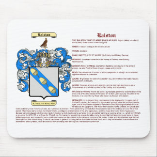 Ralston (meaning) mouse pad