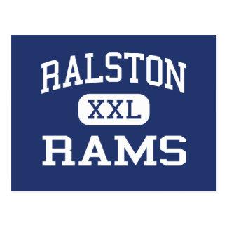 Ralston - Rams - High School - Ralston Nebraska Postcard