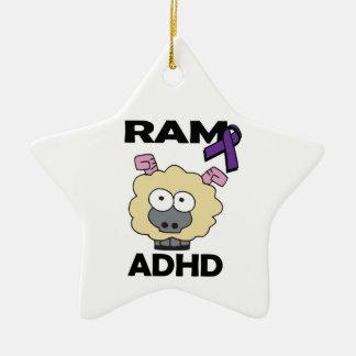 RAM ADHD Double-Sided STAR CERAMIC CHRISTMAS ORNAMENT