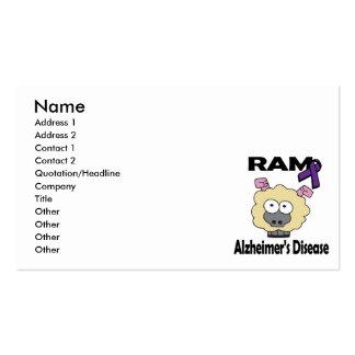 RAM Alzheimers Disease Business Card Template