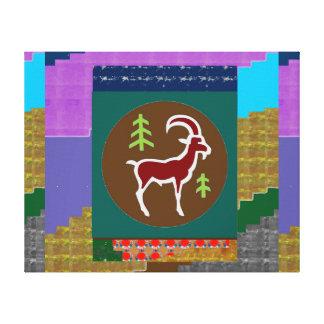 RAM ANIMAL WILD HUNT HUNTER CARTOON ZODIAC GALLERY WRAP CANVAS