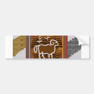 RAM ANIMAL WILD ZODIAC ASTROLOGY SYMBOL BUMPER STICKER