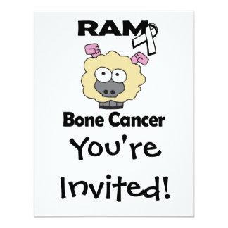 RAM Bone Cancer 4.25x5.5 Paper Invitation Card