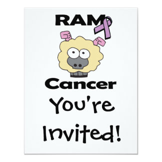RAM Cancer 4.25x5.5 Paper Invitation Card