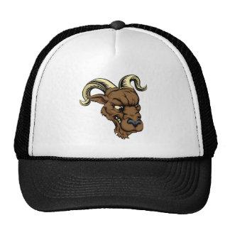 Ram character illustration trucker hat