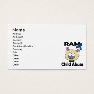 RAM Child Abuse Business Card