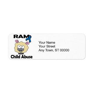 RAM Child Abuse Return Address Label