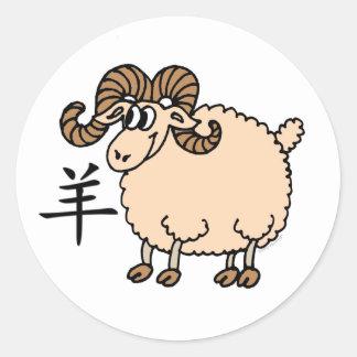 Ram Chinese Zodiac Stickers