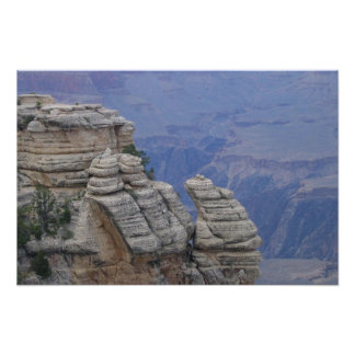 Ram Climbing Rock Face At Grand Canyon Poster