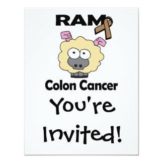 RAM Colon Cancer 4.25x5.5 Paper Invitation Card