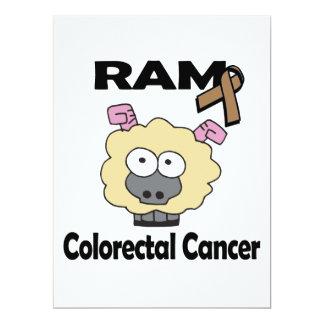 RAM Colorectal Cancer 6.5x8.75 Paper Invitation Card