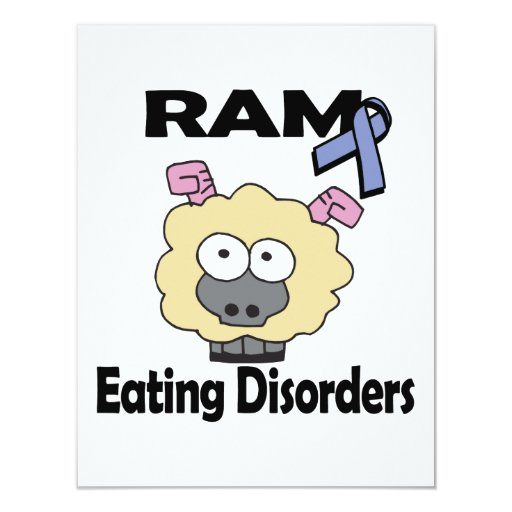 "RAM Eating Disorders 4.25"" X 5.5"" Invitation Card"