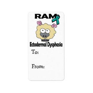 RAM Ectodermal Dysphasia Label