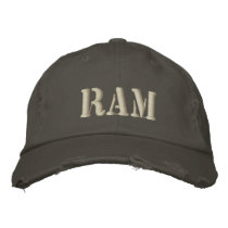 RAM EMBROIDERED BASEBALL HAT