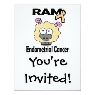 RAM Endometrial Cancer 4.25x5.5 Paper Invitation Card