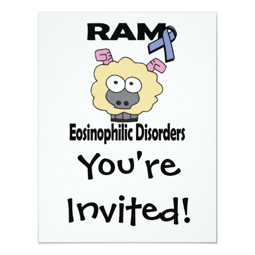 RAM Eosinophilic Disorders 4.25x5.5 Paper Invitation Card