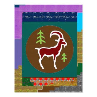 RAM Goat Symbol Animal Zodiac Astrology goodluck Letterhead