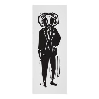 Ram Head Man Poster