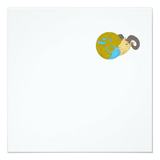 Ram Head Middle East Globe Drawing Card