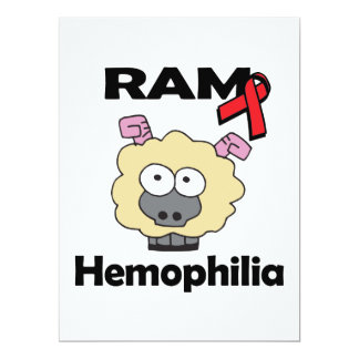 RAM Hemophilia 6.5x8.75 Paper Invitation Card