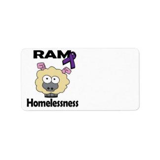 RAM Homelessness Address Label