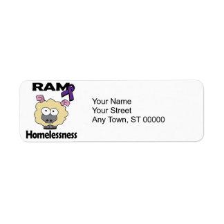 RAM Homelessness Return Address Label
