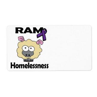 RAM Homelessness Shipping Label