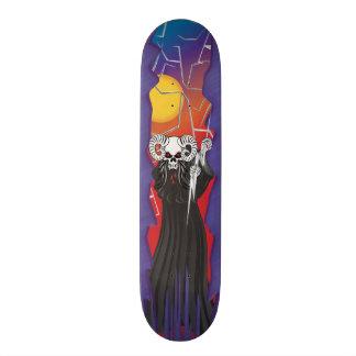 Ram Horned Skull Skateboard