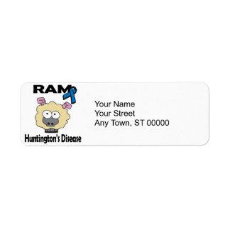 RAM Huntingtons Disease Label