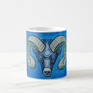 Ram in sky blue coffee mug