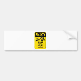 RAM Industrial: Enjoy all your good hard work Car Bumper Sticker