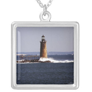 Ram Island Ledge Light Silver Plated Necklace