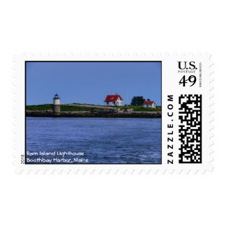Ram Island Lighthouse Stamp-New England Postage Stamps